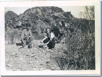 Terry Smith & Nellie Mae (Coffin) Smith camping out